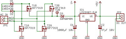 marko mäkelä s electronics projects 5 volts a linear regulator schematic diagram a synchronous rectifier and low dropout regulator the