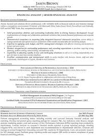 ... Entry Level Financial Analyst Resume Sample Goals and Objectives ...