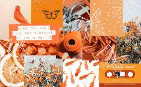 Aesthetic wallpaper laptop orange ...
