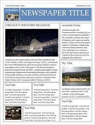 Free Newspaper Template Psd Free Newspaper Templates For Microsoft Word Free Newspaper Template