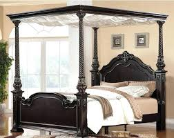 wood canopy bed frame queen – vogueneo.co