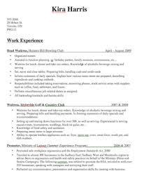 Bartender Resume Description By Kira Harris Samplebusinessresume