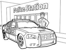 Small Picture Police Coloring Pages Traffic Police Car Coloring Page Car