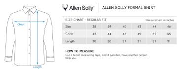Allen Solly Blazer Size Chart Allen Solly Alsf512c3763 Shirt
