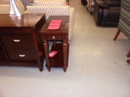 coaster espresso finish side table with 1 drawer