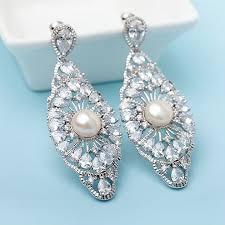 pearl chandelier earrings for wedding