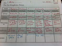 6 Kingdoms Of Living Things Chart Garner 6th Grade Science Blog Six Kingdoms Foldable 6th