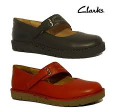 clarks un briarcrest red black genuine leather mary janes flats las shoes
