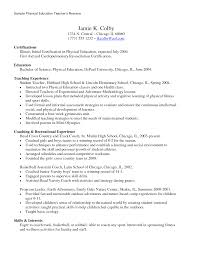 Physical Education Resume Examples Write Resume Objective Business