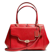 The Madison Large Madeline East west Satchel In Textured Leather from Coach