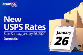 Usps Rate Chart 2019 Usps Announces 2020 Postage Rate Increase Stamps Com Blog