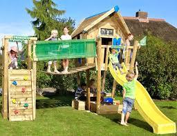 outdoor jungle gym wooden climbing frames crazy playhouse bridge for dogs