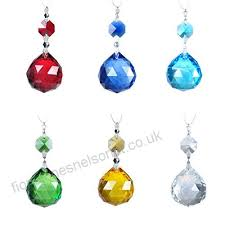 h d 6pcs 30mm crystal ball prisms with octagon beads bow tie connector chandelier pendants lamp parts