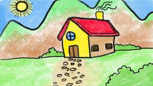 Love drawing but run out of cool ideas to draw when you are bored? Simple House Drawing For Kids Easy Steps Youtube