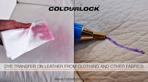 how to remove dye transfer ink biro marks on leather
