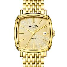 rotary classic and contemporary ladies and gents watches rotary rotary men s gold plated windsor cushion watch