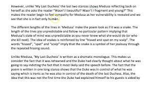 compare my last duchess and medusa from the relationships cluster  compare my last duchess and medusa from the relationships cluster aqa poetry