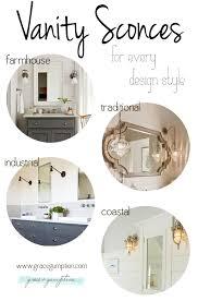 farmhouse vanity lights. Captivating Farmhouse Vanity Lights Light Inspiration Sconces Grace Gumption L