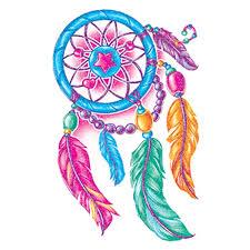Colored Dream Catchers Mesmerizing Glitter Multi Colored Dream Catcher Temporary Tattoo GOimprints
