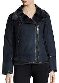 michael kors faux fur lined moto jacket