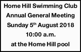 Home Hill Swimming Club Agm Public Notices Notices Townsville