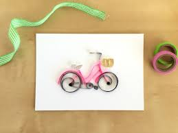 Quilling Home Decor Quilling Paper Pink Bicycle Home Decor Pink White Bike Art