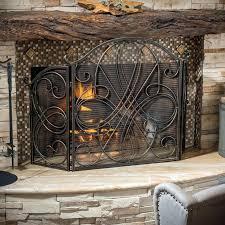 deer fireplace screens knight home fireplace screen gold flower with black screen metal fireplace ideas modern