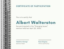 Customize 102 Participation Certificates Templates Online