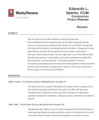 Construction Resume Sample Fascinating Construction Project Management Resume Samples F Manager Sample Free