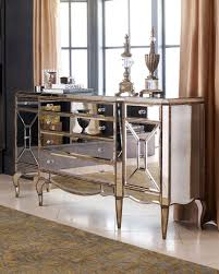 ... Jerilynn Mirrored Buffet Traditional Buffets And Sideboards Horchow  White Mirrored Buffet Cabinet ...