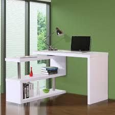 Office desk for 2 Multiple Desk Homcom 75 Modern Corner Rotating Combo Lshaped Computer Desk With Storage Shelves White Aosom Homcom Computer Desk Modern Shaped Corner Office Desk Sale Aosom