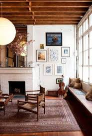 Home Interiors:Rustic Bohemian Room Interior Design With Wooden Chairs And  Rooftop Inspiring Bohemian Interior
