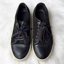 Lanvin Shoes Size Chart Men S Lanvin Dbb1 Suede Calfskin Sneaker Black 8