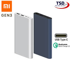 Pin Sạc Dự Phòng Xiaomi 10000mAh Gen 3 New 2020 Sạc Nhanh QC 3.0 Chính Hãng