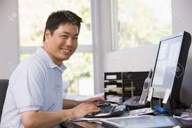 working for home office. Gallery : Hispanic Man Working In Home Office Stock Photo Image 54956400 Within For