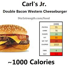 how many calories in carl s jr