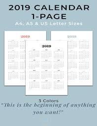 At A Glance Yearly Calendars 2019 Calendar Printable Wall Calendar 2019 Year At A Glance Yearly Agenda 2019 Monday Start Calendar
