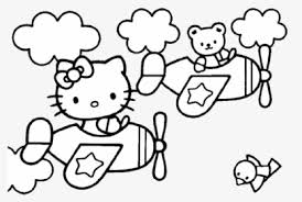 Hello kids coloring pages download and print for free. Hello Kitty Page Angel Clipart Transparent Png Png Download Kindpng
