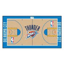 nba oklahoma city thunder 3 ft x 5 ft large court