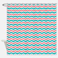 teal chevron shower curtains. Coral Teal Chevron Shower Curtain Curtains T