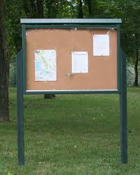 Message Centers Send A Positive Message About A Park HOA School Or Classy Exterior Bulletin Boards Model Collection