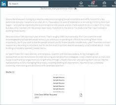 How To Upload Resume On Linkedin Fresh How To Post Resume Linkedin