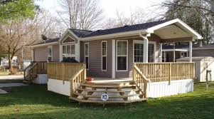 Deck Designs For Manufactured Homes Attractive Single Porch Design 7 Single Wide Mobile Home