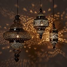 moroccan outdoor lighting. Moroccan Hanging Lamp Collection Bright Copper Vivaterra Outdoor Lighting Australia Lamps Lit 1 Full Size