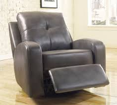 modern leather recliner chair. Grey Modern Leather Recliner Chair