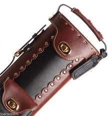 instroke pool cue case inverted black brown 2x4 leather cowboy for