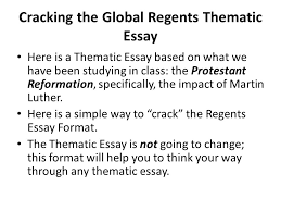 cracking the global regents thematic essay ppt cracking the global regents thematic essay