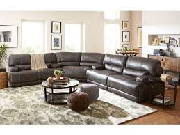 3 piece leather sectional. Simple Leather Stampede Leather 3Piece Power Reclining Sectional  CHARCOAL GPM089 On 3 Piece