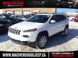 jeep 2015 white. Wonderful White 2015 White Jeep Cherokee Limited Newmarket Ontario  MacIver Dodge Inside