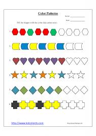 Kindergarten Patterns Worksheets For Kindergarten Worksheets For ...